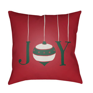 Red Joy 20-Inch Throw Pillow with Poly Fill