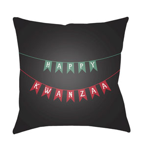 Black Kwanzaa I 20-Inch Throw Pillow with Poly Fill