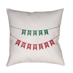 White Kwanzaa I 20-Inch Throw Pillow with Poly Fill