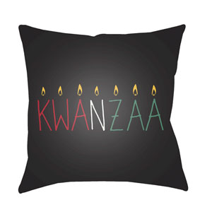 Black Kwanzaa II 20-Inch Throw Pillow with Poly Fill
