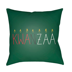 Green Kwanzaa II 18-Inch Throw Pillow with Poly Fill