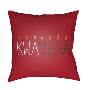 Red Kwanzaa II 18-Inch Throw Pillow with Poly Fill