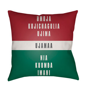 Red Kwanzaa III 20-Inch Throw Pillow with Poly Fill