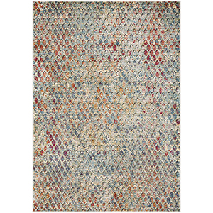 Herati Multicolor Rectangular: 5 Ft. 3 In. x 7 Ft. 3 In. Rug