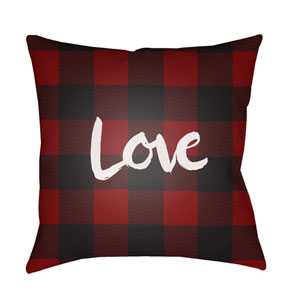 Love II Red and Black 18 x 18-Inch Throw Pillow