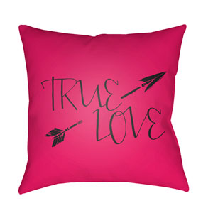 True Love Red and Black 18 x 18-Inch Throw Pillow