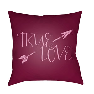True Love Purple and Pink 18 x 18-Inch Throw Pillow