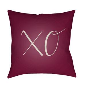 Xoxo Purple and White 20 x 20-Inch Throw Pillow