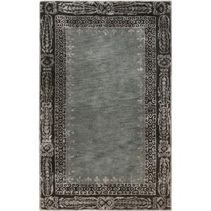 Henna Black and Gray Rectangular: 2 Ft x 3 Ft Rug