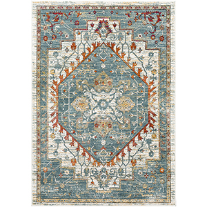 Herati Aqua Rectangular: 7 Ft. 10 In. x 10 Ft. 6 In. Rug