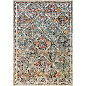 Herati Multicolor Rectangular: 3 Ft. 11 In. x 5 Ft. 11 In. Rug