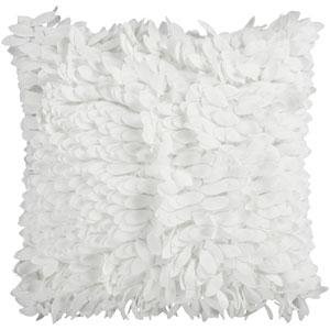 White Plush Petal 18 x 18 Pillow w/ Down Fill