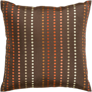 Dots Brown and Orange 18-Inch Pillow Cover