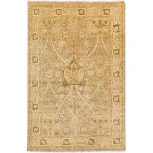 Hillcrest Lime and Gold Rectangular: 2 Ft x 3 Ft Rug