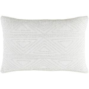 Hira White 13 x 19-Inch Pillow Cover
