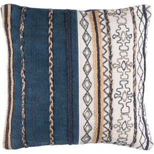 Holston Brown and Gray 30-Inch Pillow Cover