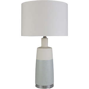 Healey Ice Blue and Ivory One-Light Table Lamp