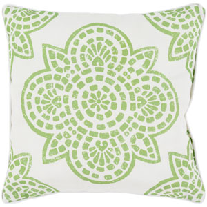 Hemma Green and Neutral 16 x 16-Inch Pillow
