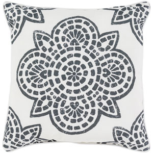 Hemma Black and Neutral 16 x 16-Inch Pillow