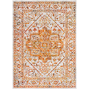 Himalayan Saffron and Bright Red Rectangular: 9 Ft. 3 In. x 12 Ft. 3 In. Rug