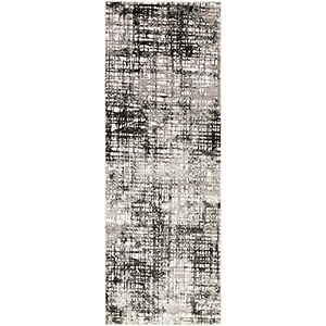 Himalayan Grey Runner: 2 Ft. 7 In. x 7 Ft. 3 In. Rug