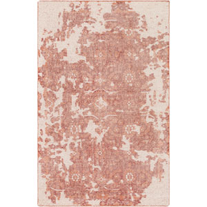 Hoboken Coral and Dark Red Rectangular: 2 Ft. x 3 Ft. Rug