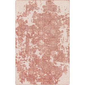 Hoboken Coral and Dark Red Rectangular: 6 Ft. x 9 Ft. Rug