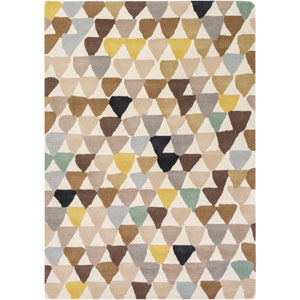 Harlequin Yellow and Neutral Rectangular: 2 Ft x 3 Ft Rug by Harlequin