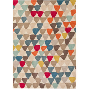 Harlequin Red and Pink Rectangular: 2 Ft x 3 Ft Rug by Harlequin