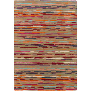 Harlequin Brown and Red Rectangular: 2 Ft x 3 Ft Rug by Harlequin