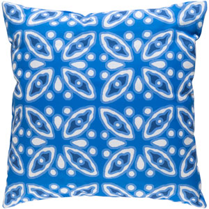 Decorative Pillows Blue and White 18 x 18-Inch Throw Pillow