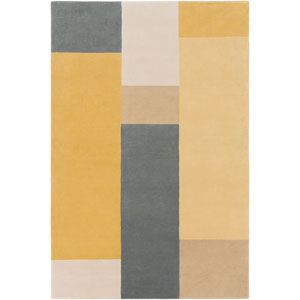 Lina Gray and Tan Rectangular: 5 Ft. x 7 Ft. 6 In. Rug