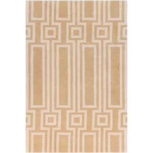 Lina Tan and Cream Rectangular: 5 Ft. x 7 Ft. 6 In. Rug