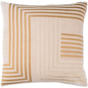 Intermezzo Beige and Tan 20 x 20-Inch Pillow Cover