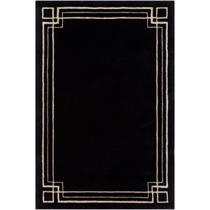 Intermezzo Black and Beige Rectangular: 2 Ft. x 3 Ft. Rug