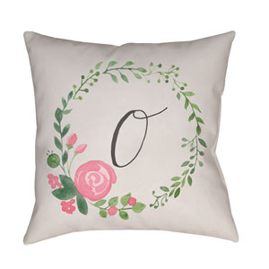 Initials II Multicolor 18 x 18-Inch Throw Pillow