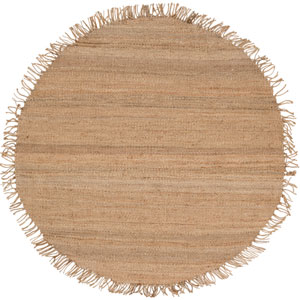 Jute Natural Round: 6 Ft. x 6 Ft. Rug