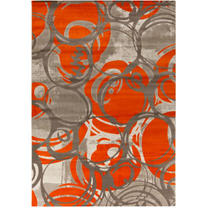 Jax Burnt Orange and Gray Rectangular: 2 Ft 2 In x 3 Ft Rug