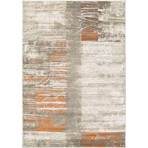 Jax Light Gray and Burnt Orange Rectangular: 2 Ft 2 In x 3 Ft Rug