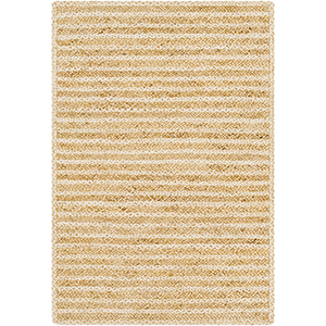 Jambi Ivory and Wheat Rectangular: 8 Ft. x 10 Ft. Rug