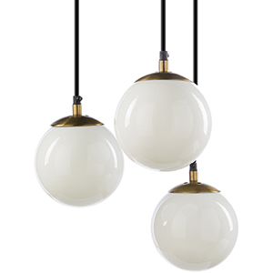 Jules Gold Three-Light Pendant