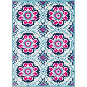 Jolene Blue Rectangle: 2 Ft. x 3 Ft. Rug