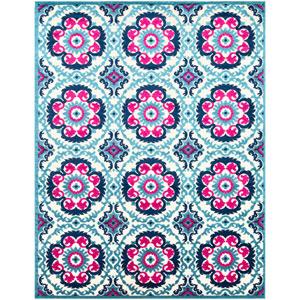 Jolene Blue Rectangle: 7 Ft. 10 In. x 10 Ft. 3 In. Rug
