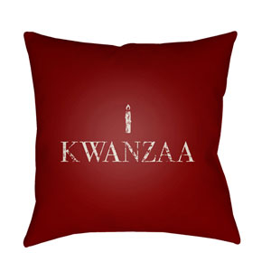 Red Matunda 20-Inch Throw Pillow with Poly Fill