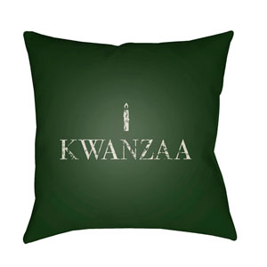 Green Matunda 18-Inch Throw Pillow with Poly Fill