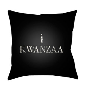 Black Matunda 20-Inch Throw Pillow with Poly Fill