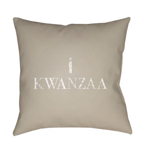 Neutral Matunda 20-Inch Throw Pillow with Poly Fill