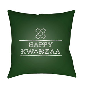 Green Matunda II 18-Inch Throw Pillow with Poly Fill