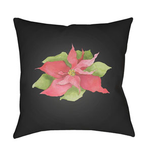 Black Peace On Earth 18-Inch Throw Pillow with Poly Fill
