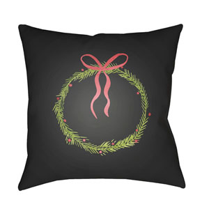 Black Silent Night 18-Inch Throw Pillow with Poly Fill